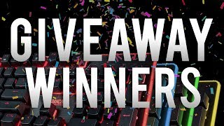 Keyboard Giveaway Winners