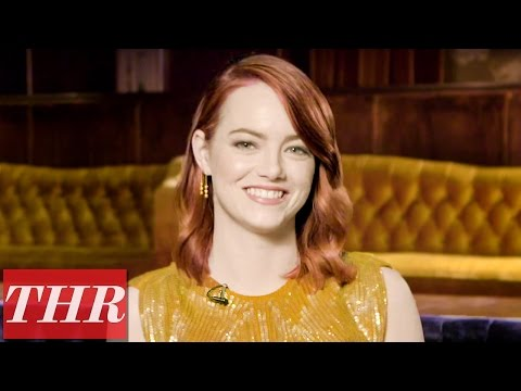 Emma Stone Plays 'Fishing for Answers': Ryan Gosling, Her First Job, & Cheese Pizza?   THR