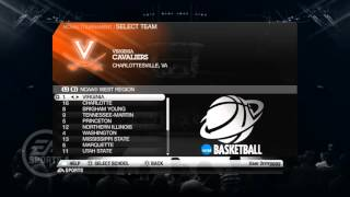 HOW TO SETUP NCAA Basketball 10 FOR THE 2016 TOURNAMENT FOR GAMEPLAY PART 1