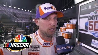 Denny Hamlin talks after Daytona 500, Ryan Newman crash | Motorsports on NBC