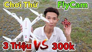 Lâm Vlog - Thử Chơi và So Sánh Máy Bay 4 Cánh FlyCam Điều Khiển Từ Xa Giá 300k vs 3 Triệu