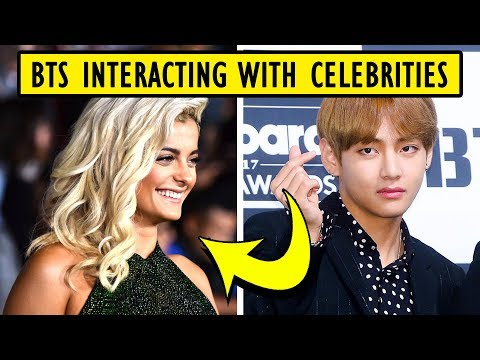 BTS Interacting With Celebrities BBMA's 2018 😆