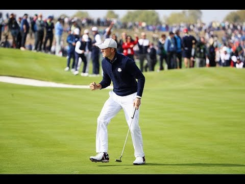 Jordan Spieth on fire around the green at Ryder Cup Friday