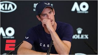 Andy Murray gets emotional announcing his plans to retire | Tennis on ESPN
