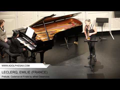 Dinant 2014 - Leclercq, Emilie - Prelude, Cadence et Finale by Alfred Desenclos