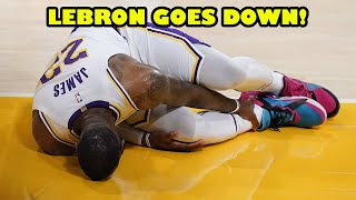Lebron James OUT INDEFINITELY after high ankle sprain injury!   LA Lakers in SERIOUS TROUBLE!