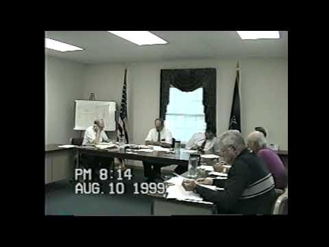 Champlain Town Board Meeting 8-10-99