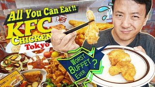 All You Can Eat KFC CHICKEN BUFFET in Tokyo Japan 5 HOUR WAIT! WORST Buffet Ever?!