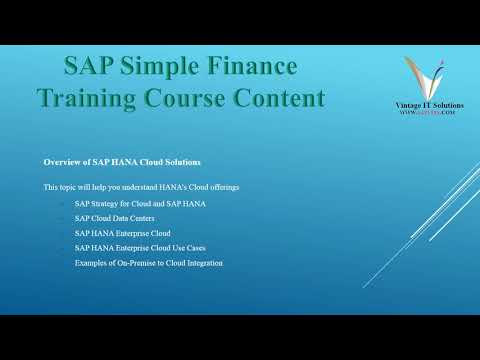 SAP Simple Finance Online Training in Bangalore | SAP Simple Finance Videos