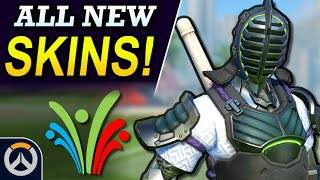 ALL NEW LEGENDARY SKINS & Cosmetics! - Overwatch 2019 Summer Games Event