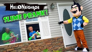 Hello Neighbor in Real Life! Slime Prank GONE WRONG on Real Life Hello Neighbor!!!