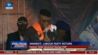 Reactions Trail Mimiko's Defection To Labour Party Pt 1 | Politics Today |