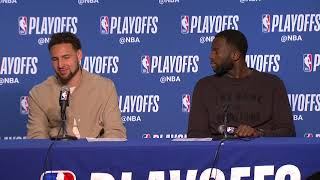 Klay Thompson & Draymond Green Postgame Interview - Game 5 | Rockets vs Warriors | 2019 NBA Playoffs