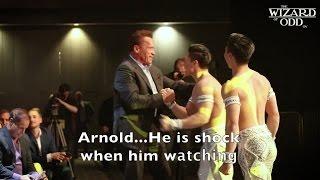Diễn viên điện ảnh Hollywood Arnold Schwarzenegger bị Shock khi xem Quốc Cơ Quốc Nghiệp biểu diễn.