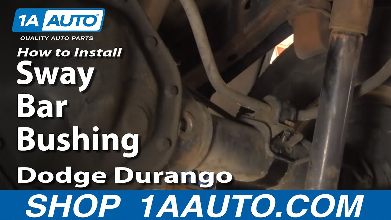 How To Install Replace Rear Sway Bar Bushings Dodge