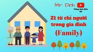 5 phút Thuộc lòng 21 từ chỉ người trong gia đình