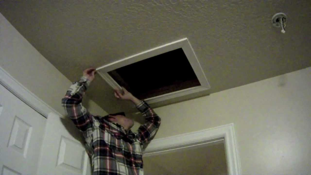 How To Install An Attic Access Door For Insulation Youtube