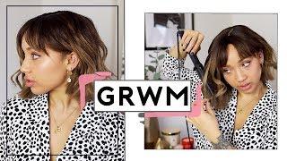 Styling my short hair & Chatty GRWM