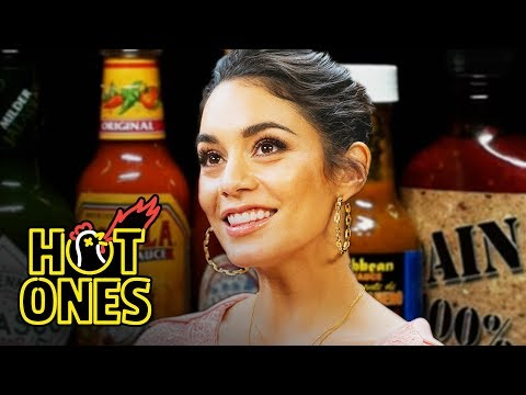 Vanessa Hudgens Does Tongue Twisters While Eating Spicy Wings | Hot Ones