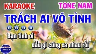 Karaoke Trách Ai Vô Tình | Nhạc Sống Tone Nam | Lý Mỹ Hưng Karaoke Tuấn Cò