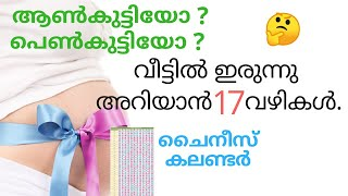 Gender Prediction Technique in malayalam | chinese gender calendar | Baby Boy or Girl check | Par#11