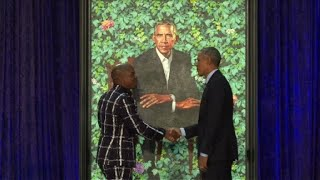 Obama's portrait unveiled at National Portrait Gallery