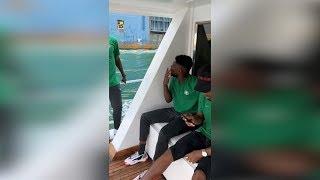 جولة بحرية لمنتخب نيجيريا في قناة السويس     -