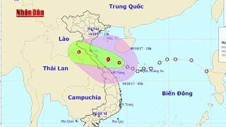 Tin Thời Sự Hôm nay (22h - 09/10/2017) : Tin Áp Thấp Giật Cấp 9 Tiến Sát Đất Liền Miền Trung