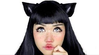 REAL LIFE CAT GIRL ! / Makeup Tutorial
