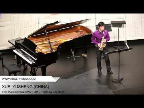 Dinant 2014 - XUE Yusheng (First Violin Sonata, BWV 1001 - Presto by J.S. Bach)