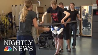 New Device Helps Paralyzed Patients Walk Again | NBC Nightly News