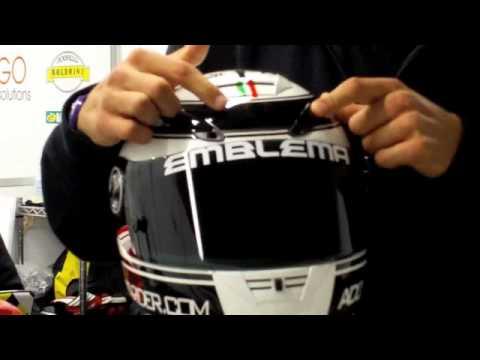 Verdini presenta il suo casco Scorpion