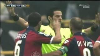 Rigore inesistente Bologna-Juventus 24 ottobre 2010 parato da Viviano - Tripudio curva rossoblu
