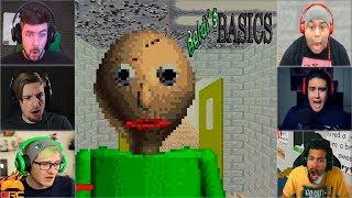Gamers Reactions to Angry Baldi (JUMPSCARE) | Baldi's Basics