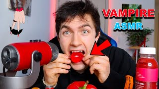 Vampire ASMR (VASMR) Episode 3 *RED EDITION!* ( Jelly Fruit, Red Drink, CANDY, POPPING, SIZZLE)