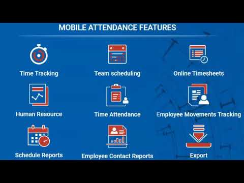 Mobile Time Attendance iPhone and Android time tracking apps