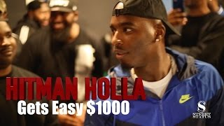 WILD 'N OUT STAR HITMAN HOLLA GETS $1000 CASH TO BATTLE ON THE SPOT