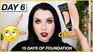 NEW Sephora FULL COVERAGE Matte Perfection FOUNDATION! {First Impression Review & Demo!} Dry Skin