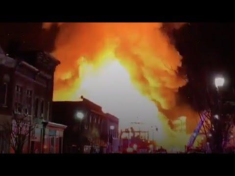 Fire engulfs downtown Bound Brook