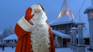 Santa Claus Village in Lapland - home of Father Christmas in Rovaniemi in Finland - children