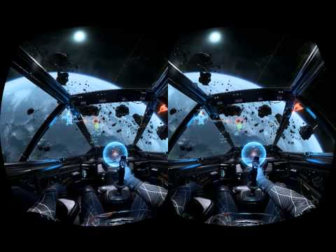 Star citizen arena commander with oculus rift and joystick.