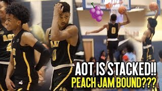 AOT IS COMING FOR THE PEACH JAM!!! AAU Super Team Is LOADED With Talent!! Final 4 Tip Off Highlights