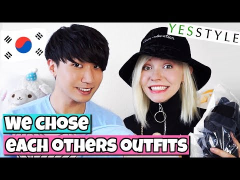 Korean Boy & German Girl Do The Couple Outfit Challenge | Yesstyle