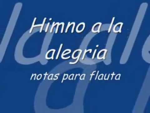 Himno a la Alegria Notas de  para flauta Cover,