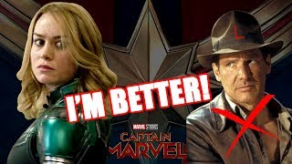 ANOTHER RANT! BRIE LARSON COMPARES CAPTAIN MARVEL TO INDIANA JONES