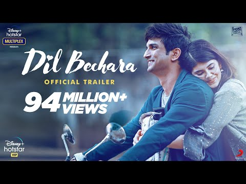 Late Sushant Singh Rajput and Sanjana Sanghi's Dil Bechara trailer is the second Indian fastest film to reach a million likes on YouTube
