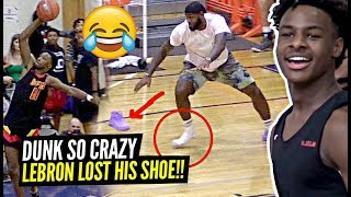 LeBron LOSES His SHOE Celebrating TOO HARD After CRAZY Play By Dior & Tezz Cobbs!!
