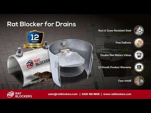 Rat Blocker for Drains - Rat Prevention Non Return Valve, rat flap system
