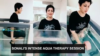 Sonali Bendre shares her experience from aqua therapy sess..