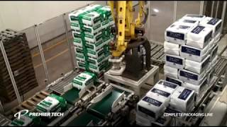 Complete Packaging Line for Peat Moss (Bagger, Palletizer, Stretch Hood Machine)